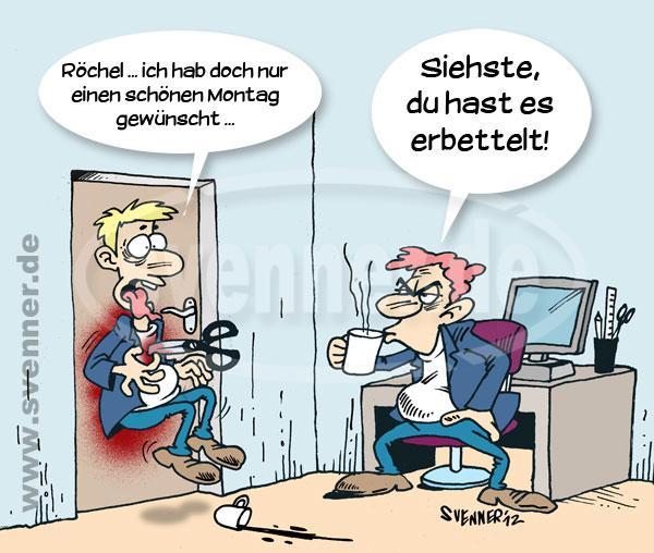 Cartoon Bad Monday Svenner De