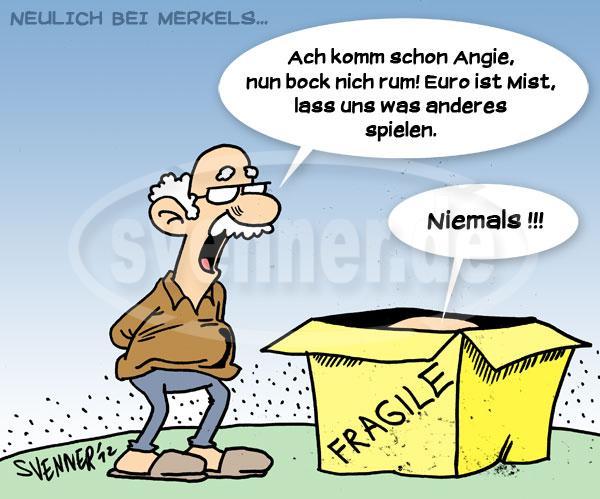 Cartoon Euro Merkel 2 Svenner De