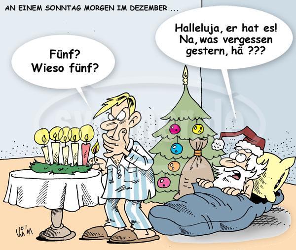 Cartoon fuenfter advent