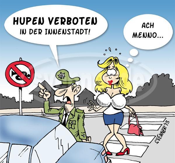 cartoon hupen verboten svennerde