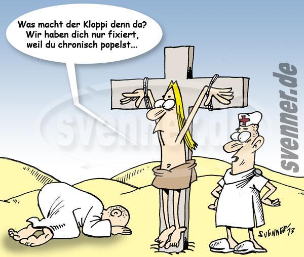 Cartoon wahrheit über die kreuzigung