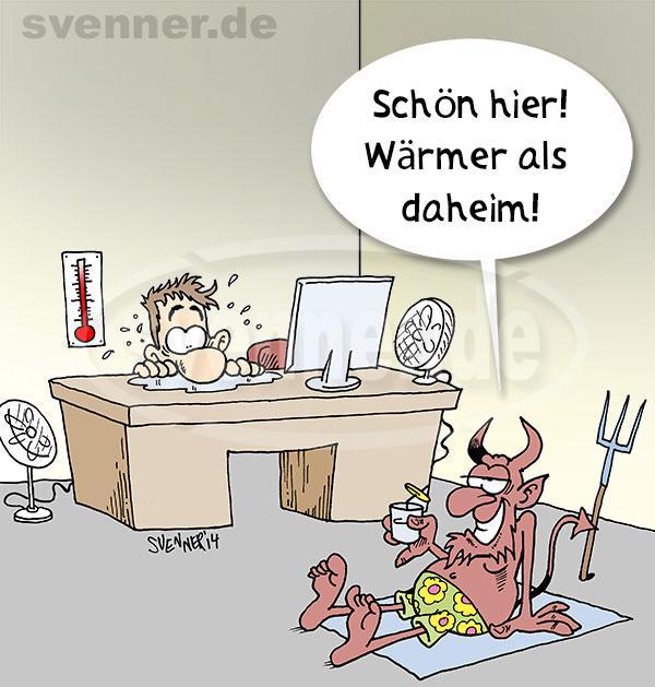 Cartoon Sommerhitze Im Buro Svenner De