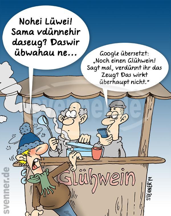 Cartoon Weihnachtsmarkt ::: svenner.de